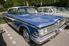 1957年Edsel别动队员葡萄酒汽车 库存照片