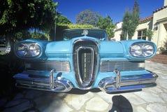 1958年Edsel在比佛利山,加利福尼亚 免版税库存照片