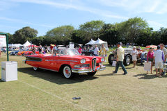 Edsel clássico que conduz no campo Foto de Stock