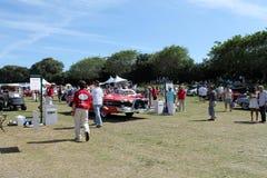 Edsel classique conduisant sur l'arrière de champ Images libres de droits
