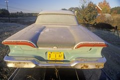 An Edsel with frost on it in Maine during autumn Royalty Free Stock Photos