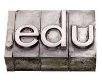 Edu de point - domaine d'Internet dans le type d'impression typographique photos stock
