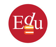 Edu Logo Concept Design Photographie stock