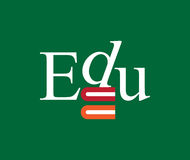 Edu Logo Concept Design Photo stock