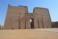 Edu Temple, Edfu, Ägypten lizenzfreie stockfotos