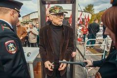 Eduard Limonov - auteur russe, poète, essayiste, politicien, fondateur et ancien chef de la partie nationale interdite de Bolchev Photo stock