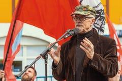Eduard Limonov - auteur russe, poète, essayiste, politicien, fondateur et ancien chef de la partie nationale interdite de Bolchev Photographie stock
