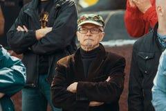 Eduard Limonov - auteur russe, poète, essayiste, politicien, fondateur et ancien chef de la partie nationale interdite de Bolchev Photographie stock libre de droits