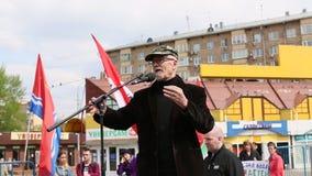 Eduard Limonov, Russische nationalistische schrijver en politieke dissident stock video