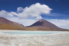 Eduardo Avaro National Reserve - Laguna Verde Photographie stock libre de droits