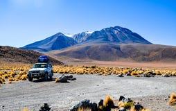 Eduardo Avaroa Andean Fauna National Reserve, Bolivia. Landscape of colourful Laguna Celeste Stock Photography