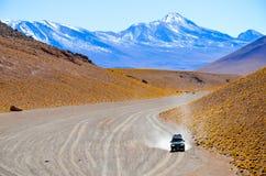 Eduardo Avaroa Andean Fauna National Reserve, Bolivia. Mountains and colourful arid landscape with blue sky Royalty Free Stock Image