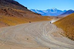 Eduardo Avaroa Andean Fauna National Reserve, Bolivia. Mountains and colourful arid landscape with blue sky Stock Photography