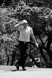 Eduardo Molinari en el 7mo verde - NGC2010 Fotografía de archivo libre de regalías
