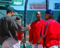 Eduardo Perez, Edgar Renteria och Manny Ramirez Royaltyfria Foton