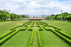 Eduardo VII πάρκο και κήποι στη Λισσαβώνα στοκ φωτογραφία με δικαίωμα ελεύθερης χρήσης