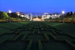 Eduardo VII Park. In the evening, Lisbon Stock Image
