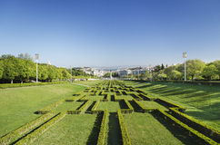 Eduardo VII park gardens in lisbon portugal Stock Images