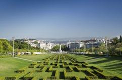 Eduardo VII park gardens in lisbon portugal Royalty Free Stock Image