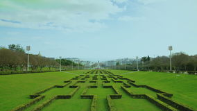 Eduardo VII park and gardens in Lisbon, stock video