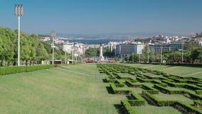 Eduardo VII park and gardens in Lisbon, Portugal stock video footage