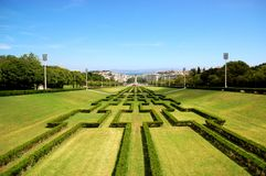 Eduardo VII Park, Lisbon Stock Image