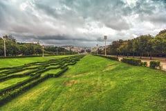 Eduardo VII park in Lisbon Royalty Free Stock Images