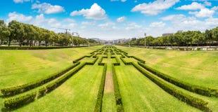 Eduardo VII park in Lisbon Royalty Free Stock Photos
