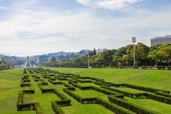 Eduardo VII Park in Lisbon, Portugal Stock Photo