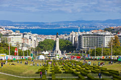 Eduardo VII Park in Lisbon, Portugal Stock Photography
