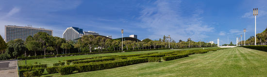 Eduardo VII park in Lissabon, Portugal stock foto