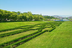Eduardo VII Park in Lisbon, Portugal stock photography