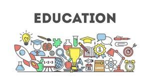 Eduation illustartion concept. Royalty Free Stock Image