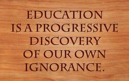 A educação é uma descoberta progressiva imagens de stock royalty free