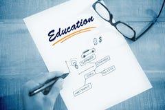 Educação contra o conceito do negócio Foto de Stock Royalty Free