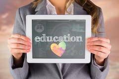 Educação contra a relação médica da biologia no azul Imagens de Stock