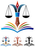 Educação da lei ilustração royalty free