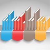 Educação de Infographics, livros de leitura, apresentação Fotografia de Stock Royalty Free