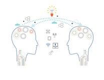 Educação do vetor, ideia do conhecimento e conceito ilustração royalty free