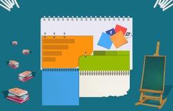 Educação do Web site Imagens de Stock