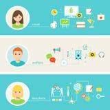 Educação e aprendizagem da ilustração dos estilos Foto de Stock