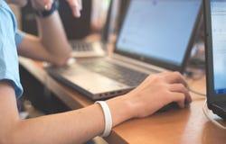 Educação e conceito da tecnologia Foto de Stock Royalty Free