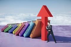 Educação e conceito do sucesso Fotos de Stock Royalty Free