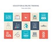 Educação e cursos em linha ilustração stock