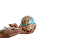 Educação e globo Imagem de Stock Royalty Free