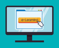 Educação em linha ou elearning ilustração royalty free