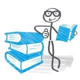 Educação estudo do estudante na biblioteca escolar ilustração royalty free
