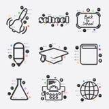 Educação Infographic Fotografia de Stock Royalty Free