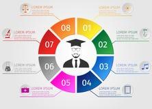Educação Infographics Estudantes do conceito que aprendem Foto de Stock