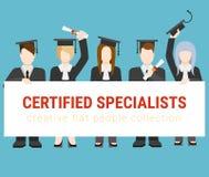 Educação lisa: estudantes, professor, graduado, universidade Foto de Stock